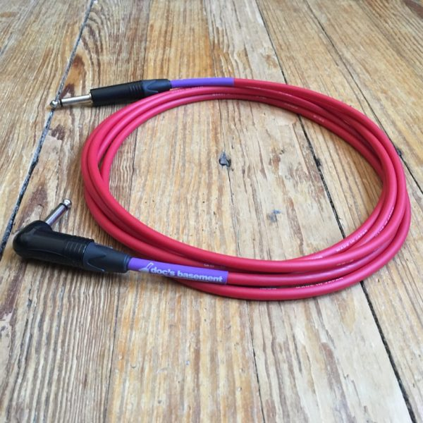 Doc's Basement Studio Instrument Cable Red