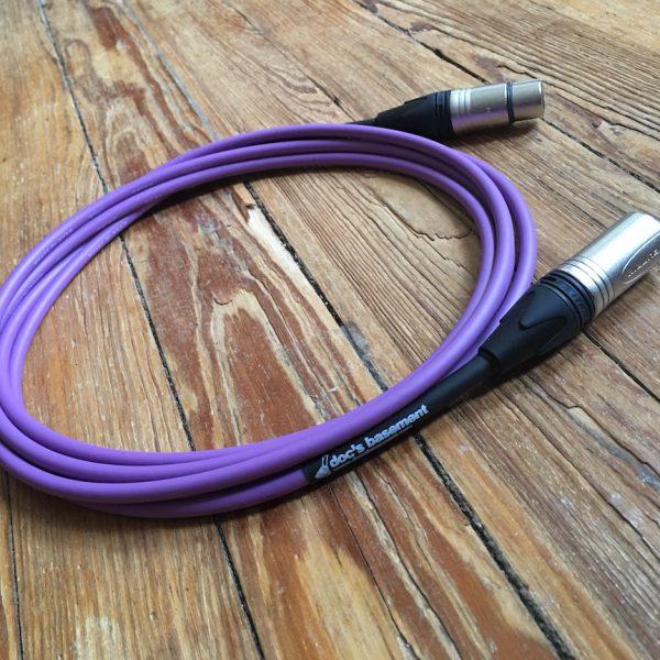 Doc's Basement Studio XLR Cable Purple