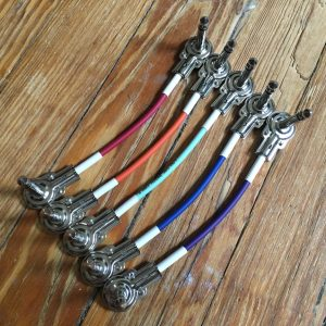 "Doc's Basement 6"" ColorPatch Super Thin Pedal Patch Cable Multicolor Set"